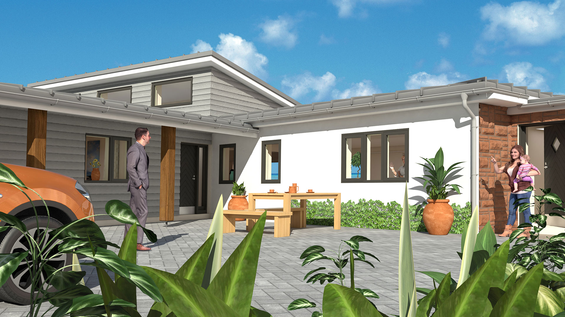 building developer image of proposed house