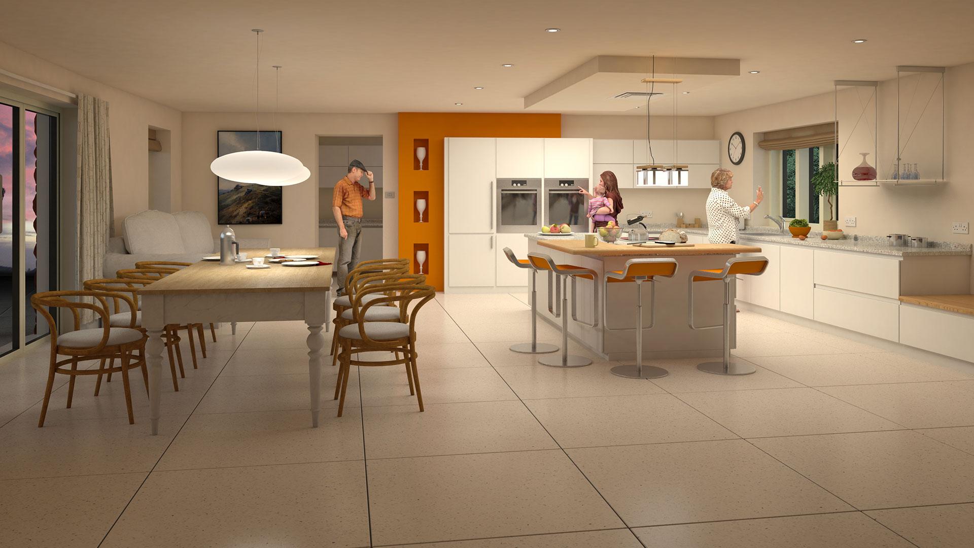kitchen CGI interior sales image