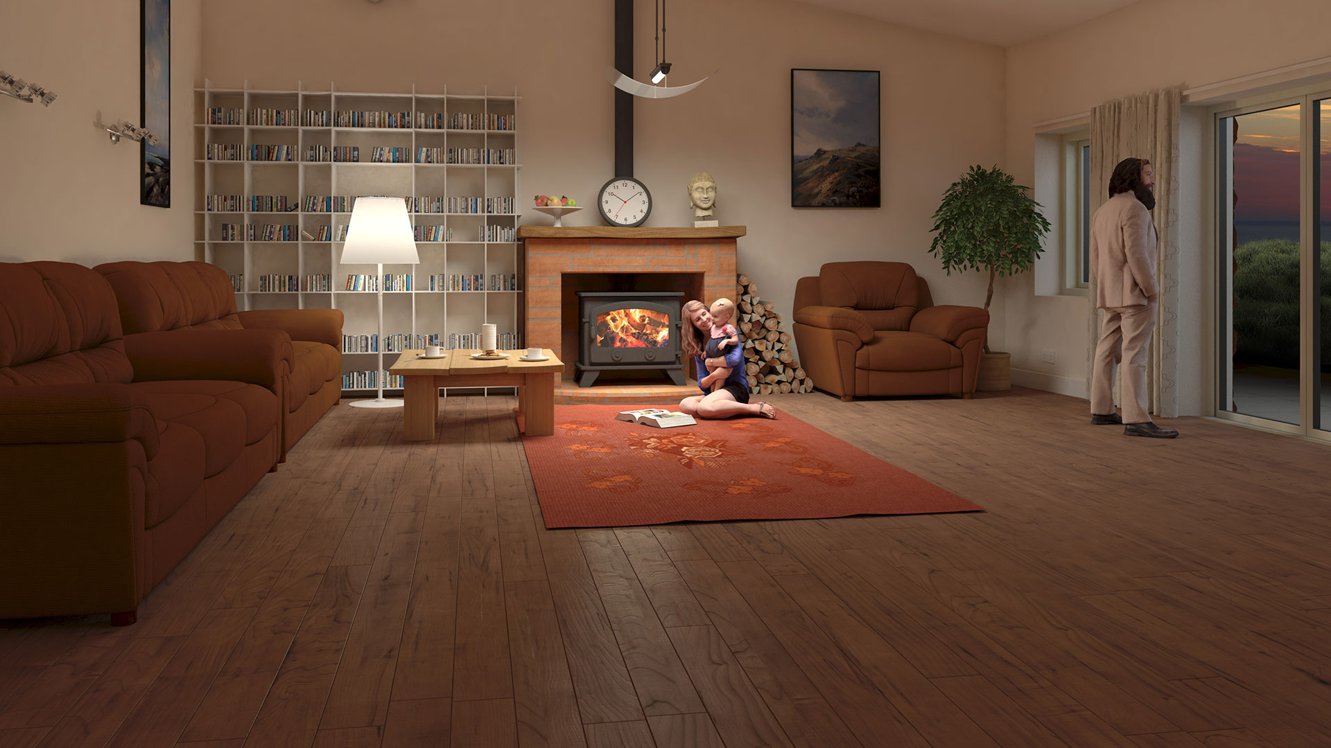 interior CGI view of a proposed luxury house