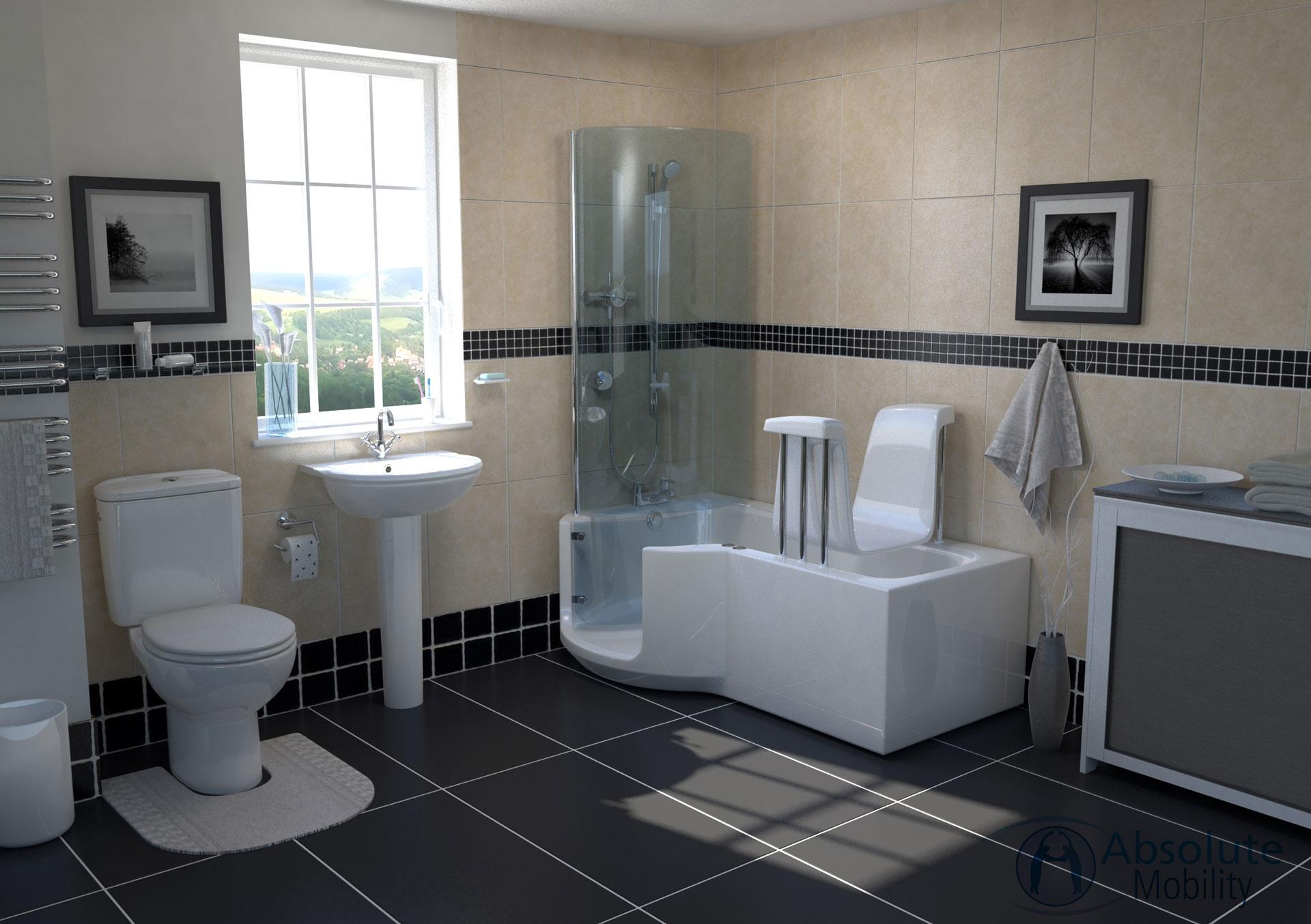CGI bathroom interior rendering image