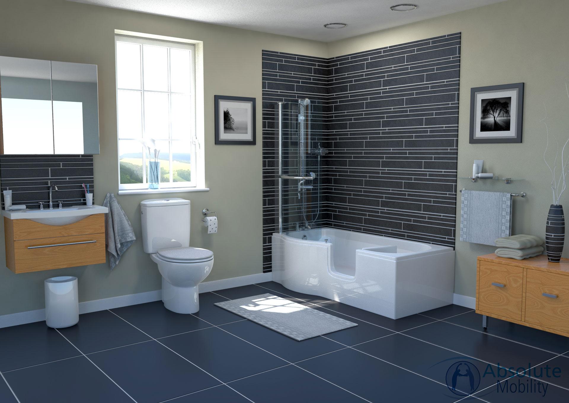 modern bathroom CGI