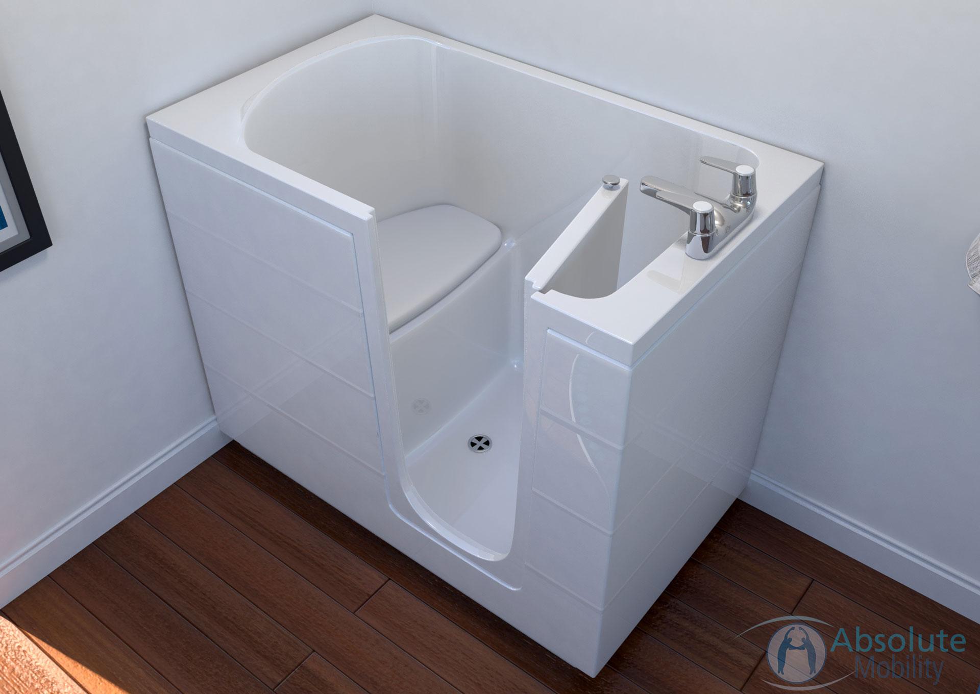 mobility bath CGI images for sales catalogue