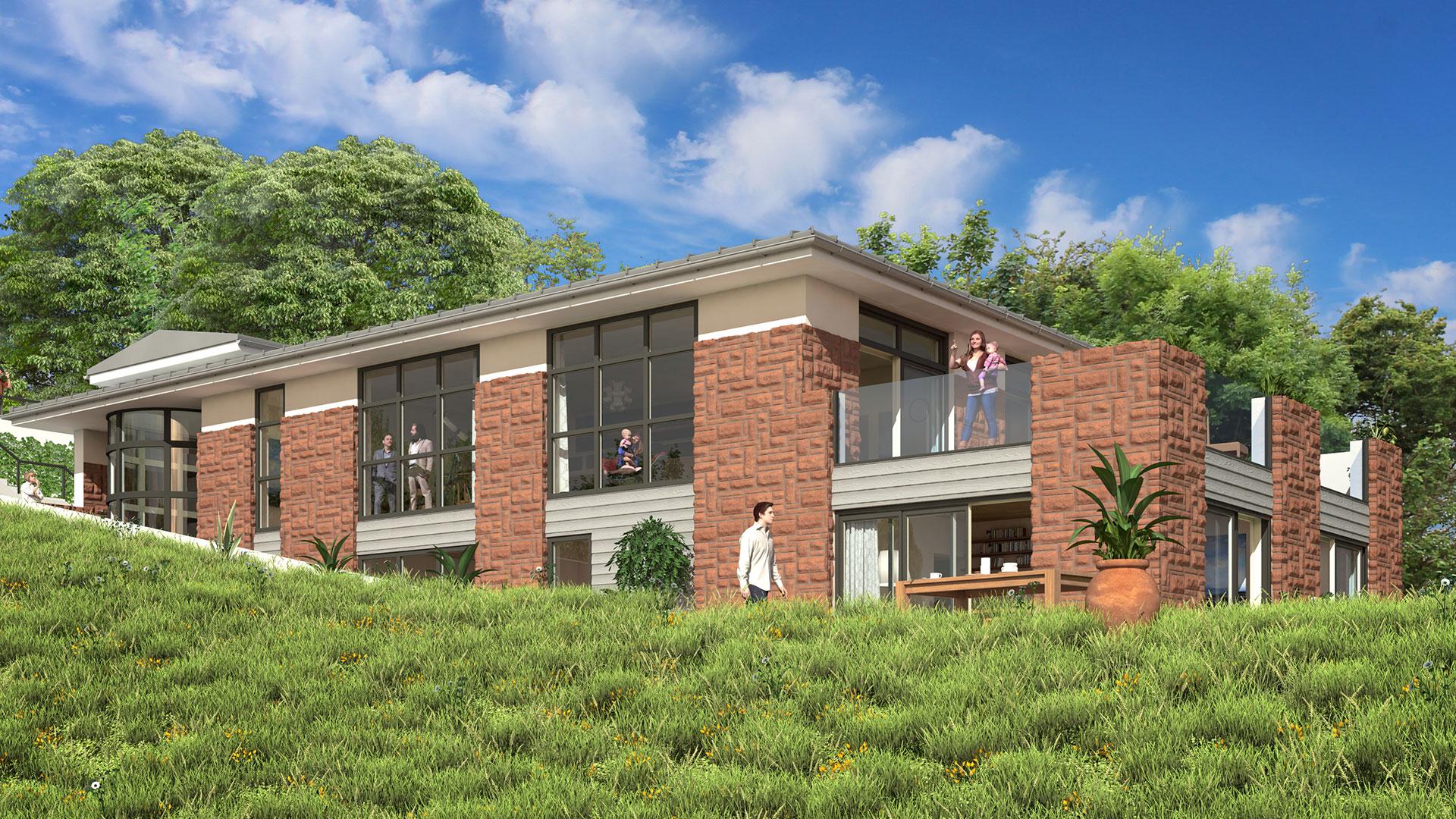 Cornwall property estate agent image CGI