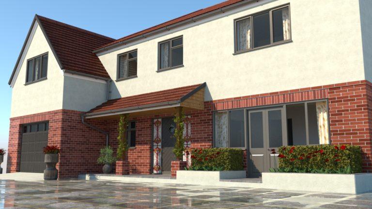 estate agent marketing photogrph of new build