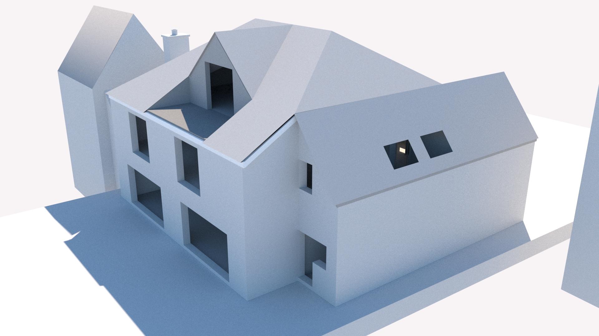 3d architects model CGI rendering