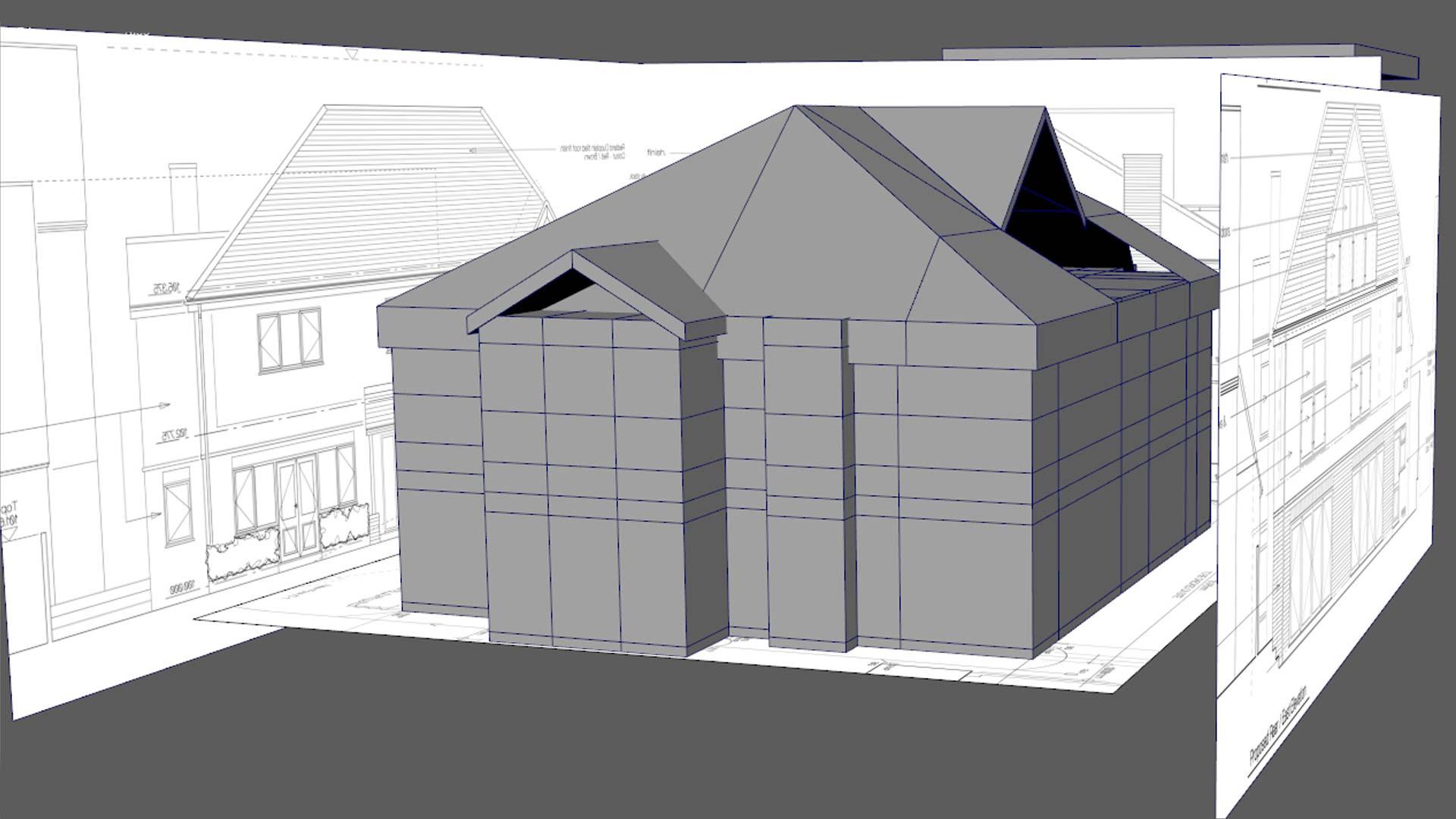 property CAD 3d model rendering