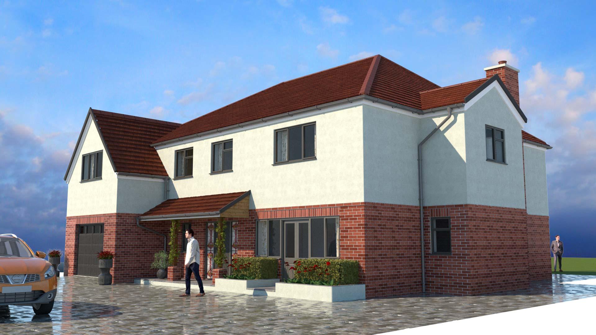 house CGI external rendering
