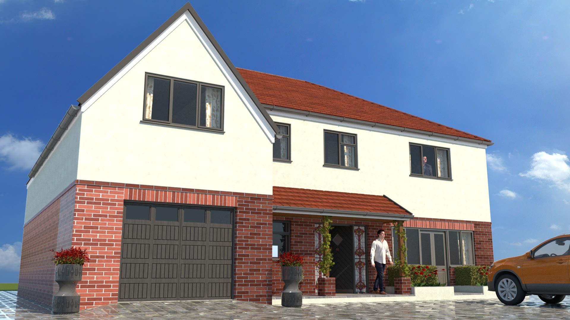 house CGI rendering image
