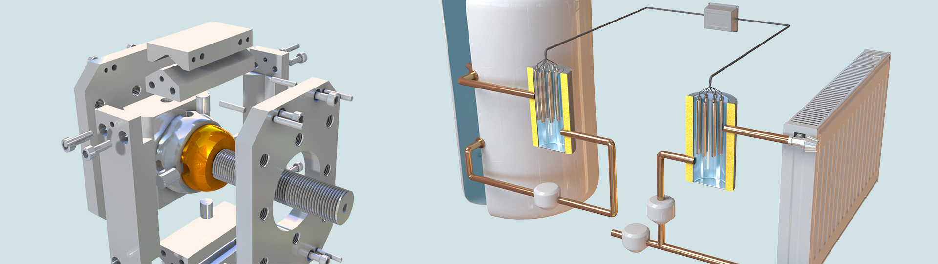 3D Product Visualization of central heating system