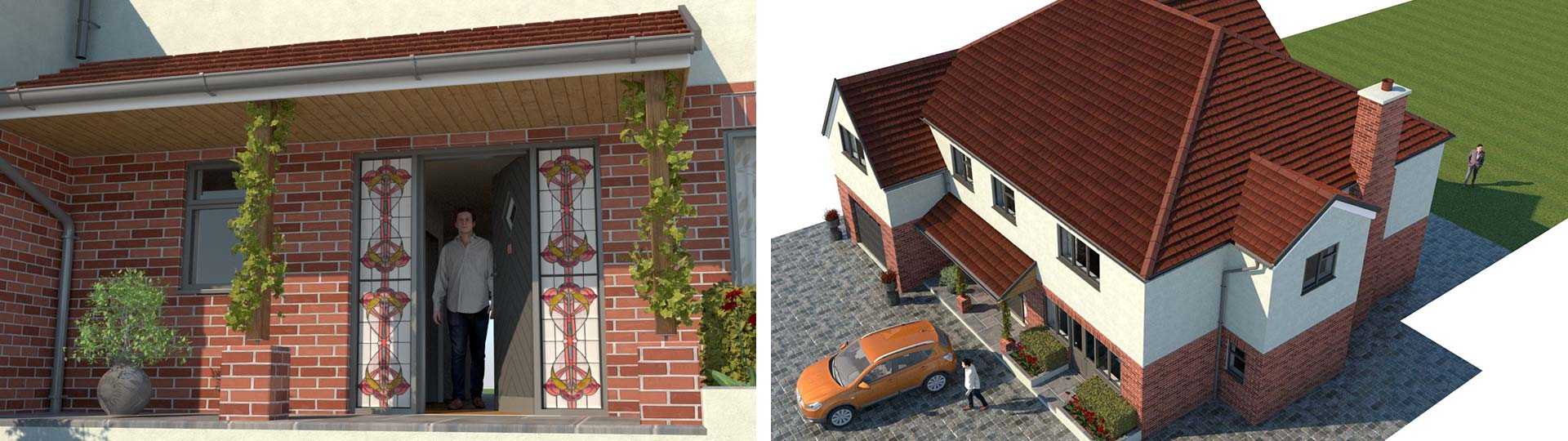 Architectural 3d Visualization of residential house