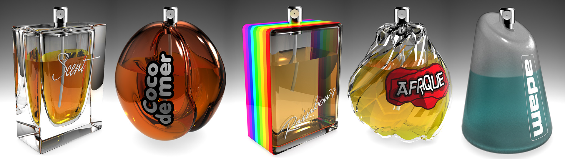 3D Product Visualization of perfume bottles