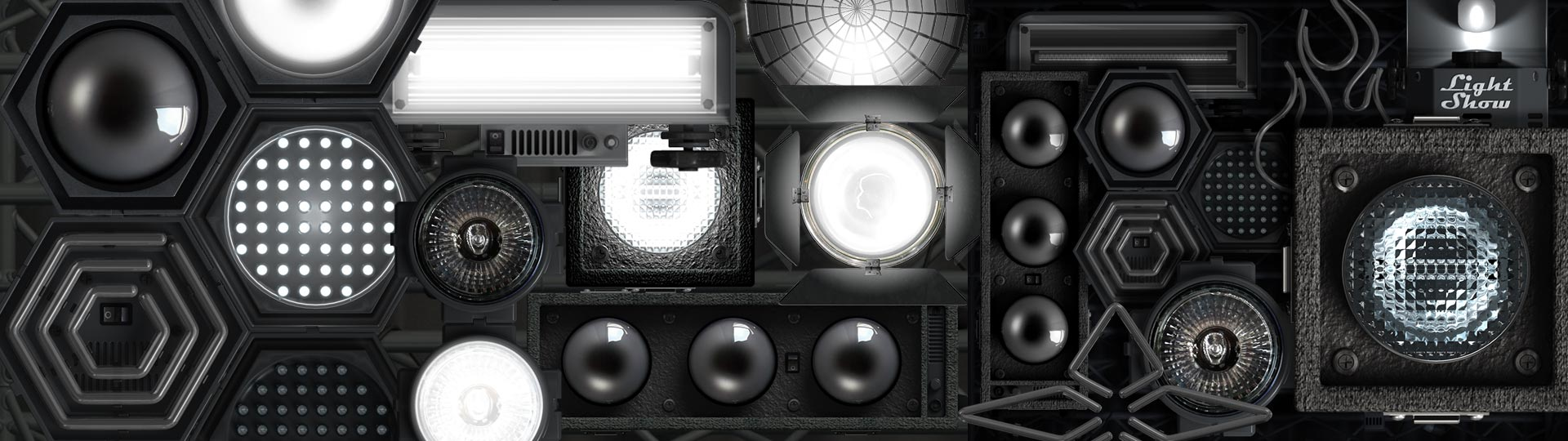 3D Product Visualization image of stage lighting products