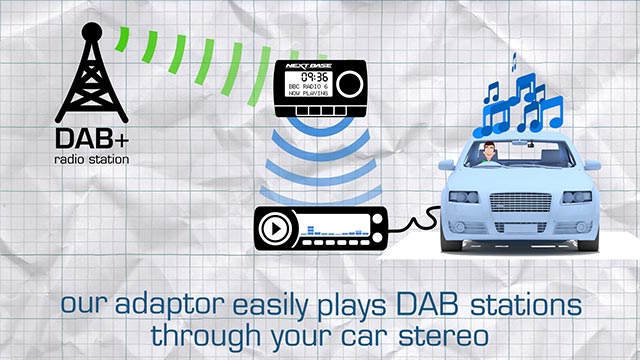 DAB radio install guide and animated marketing video