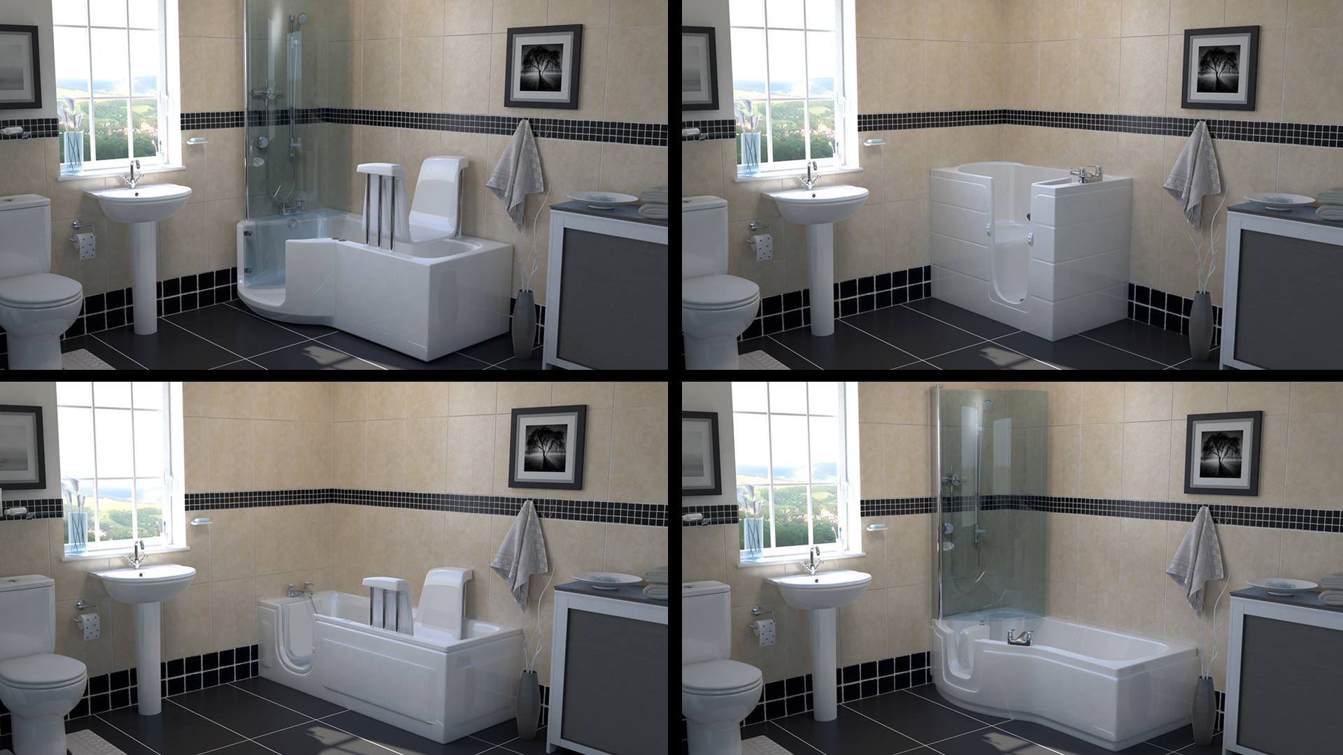 CGI bathrooms for product catalogue