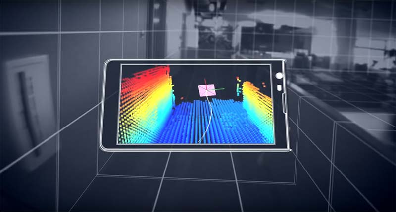 tango 3s depth scanning from a mobile device