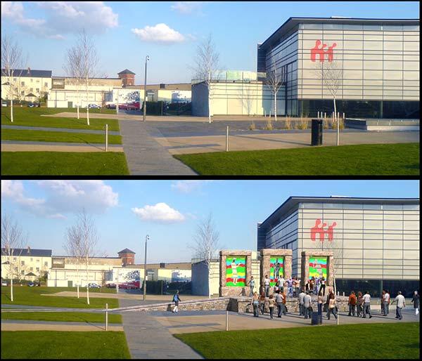 3d exterior rendering image of museum