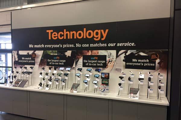 in store POS mechandizing display video