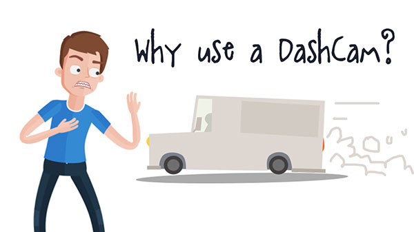 what is a dash cam explainer video storyboard