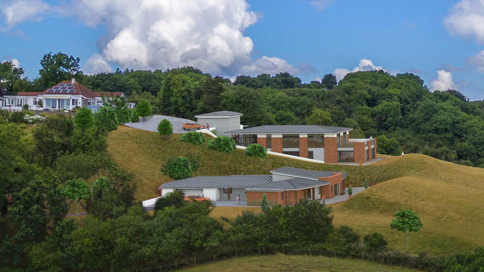 south devon CGI site landscaping