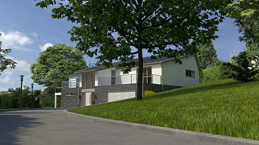 3d render of south devon house