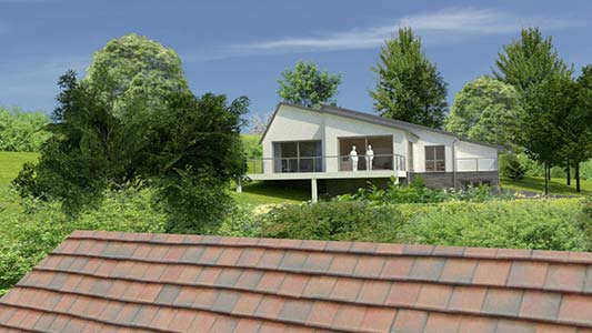 CGI view from adjacent property for planning officer