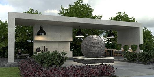 garden lanscaping CGI image